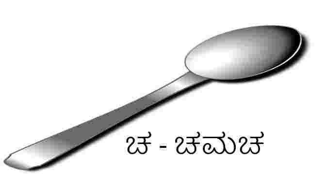 Kannada alphabets - Chamacha-Spoon